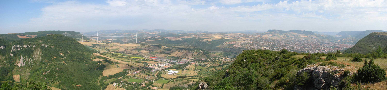 Viaduc Millau in landscape format