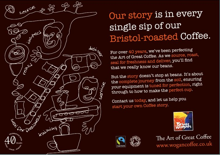 Coffee advert from Bristol's Wogan