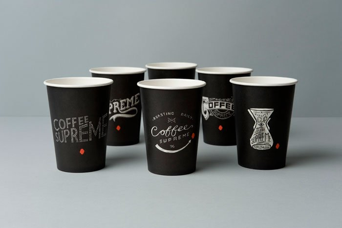 Cleverly sophisticated Supreme coffee cups