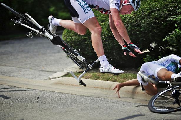 Crashing a bike in slow motion