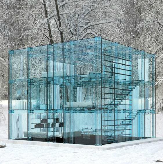 glass house shared by dan sellars