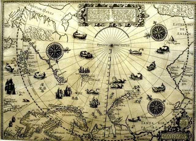 Old beautiful map