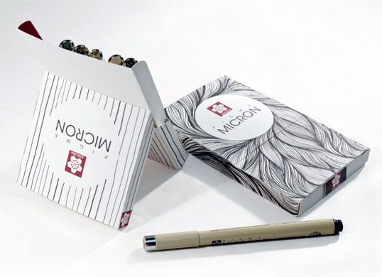 Stunningly simple yet elegant micron pen packaging