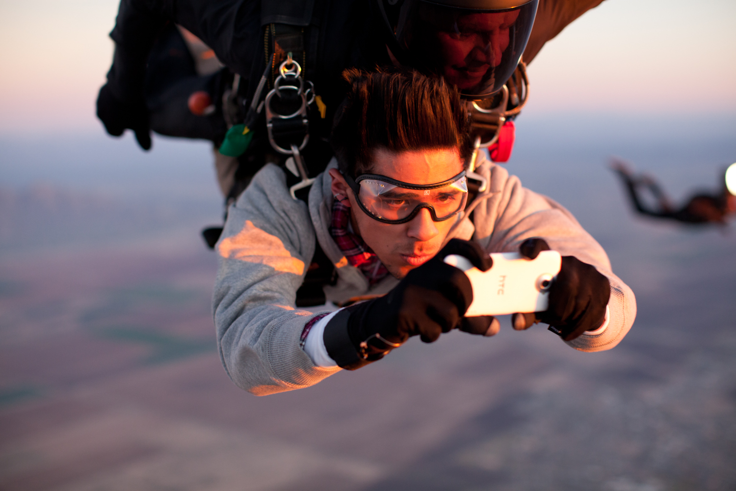 skydiving the dolomites for htc