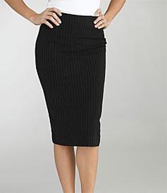 Femme Fatale wearing pencil skirt