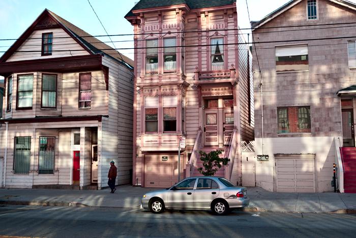 San Francisco Building in shadows