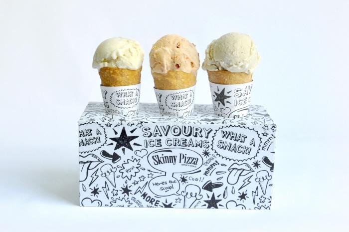 Savoury ice cream packaging design from Ryan Philipe