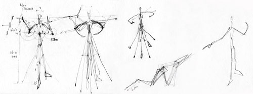 Pylon figures sketches and thinking