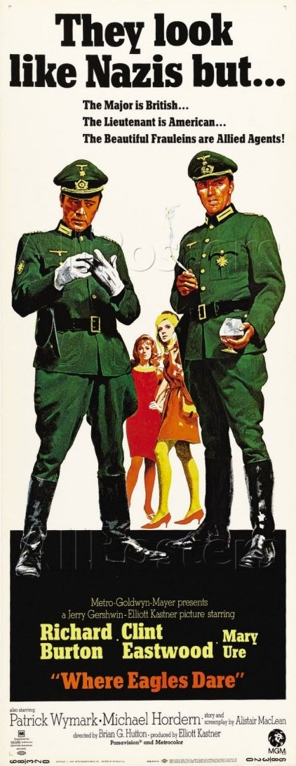 Poster - Where Eagles Dare from 1967 Motion Picture